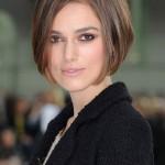 『ヘアスタイル髪型:ショートヘア』キーラ・ナイトレイのショートボブスタイル