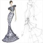 マイリー・サイラスのウェディングドレスのスケッチ画像が公開!