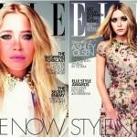 英国版・エル(ELLE):メアリー=ケイト・オルセン(Mary-Kate Olsen)とアシュレー・オルセン(Ashley Olsen)のオルセン姉妹が表紙を飾る