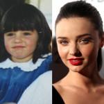 ミランダ・カー、昔と今