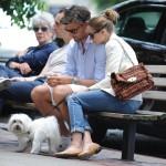 オリヴィア・パレルモ、イケメン彼氏と犬の散歩