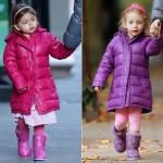 サラ・ジェシカ・パーカー、双子の娘ちゃんの通学ファッション★カラフルなダウンジャケット×ムートンブーツで学校へ