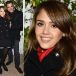ジェシカ・アルバ、ケンゾーのPコートで夫とイベント出席