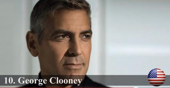 2013-Most Handsome-top10- George Clooney
