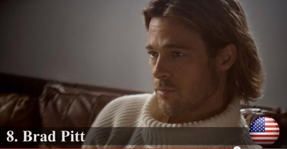 2013-Most Handsome-top8-Brad Pitt