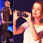 アンバー・ハード、チャリティコンサートに参加した恋人のジョニー・デップを応援
