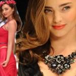 ミランダ・カー、約3億円の豪華なネックレスをつけてランウェイに登場