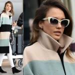 ジェシカ・アルバ、「パリ・ファッションウィーク」を終えて帰国