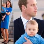 キャサリン妃とジョージ王子がブルーのペアルック!