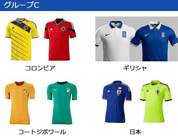 world-cup 2014-group-C-uniform