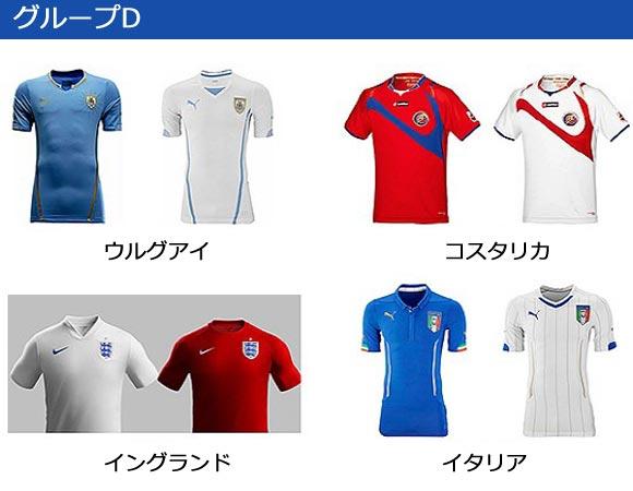 world-cup 2014-group-D-uniform