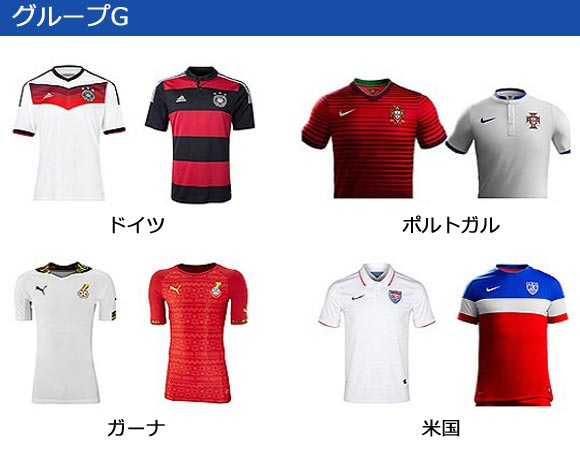 world-cup 2014-group-G-uniform