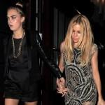 カーラ・デルヴィーニュ&シエナ・ミラー、『Kate Moss for Topshop』でドレスアップしてパーティーに出席