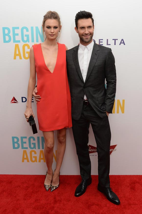 Adam-Levine-Behati-Prinsloo-Begin-Again-Premiere-2014-01