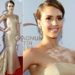 ジェシカ・アルバ、ゴージャスなゴールドドレスで登場!#Magnum Golden Butterfly Awards 2014