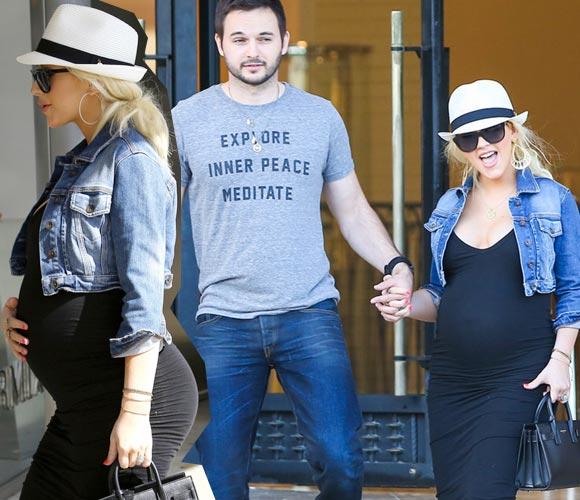 Pregnant-Christina-Aguilera-Matt-Rutler-2014
