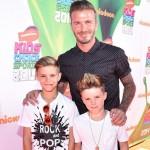 デビッド・ベッカム、息子らと子供たちが選ぶスポーツ賞『KCS 2014』に出席