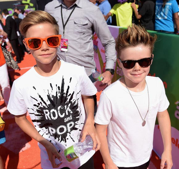 romeo-beckham-cruz-beckham-Nickelodeon-Kids-Choice-2014