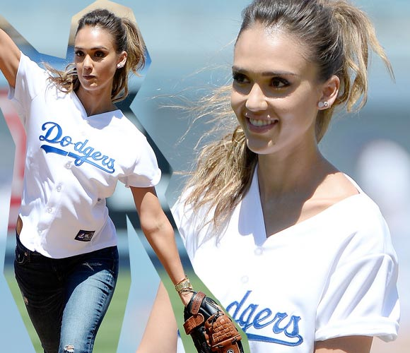 Jessica-Alba-LA- Dodgers-pitch-2014