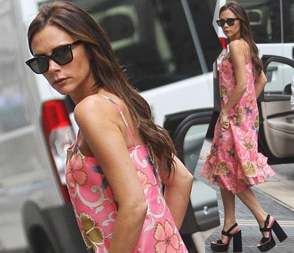 Victoria-Beckham-floral-dress-2014