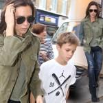 ヴィクトリア・ベッカム、息子ロメオとお出かけ  #ミリタリージャケット