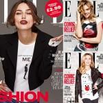 キーラ・ナイトレイ、『Red Nose Day』のチャリティーTシャツで表紙を飾る #エル #Elle