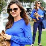 ミランダ・カー、愛犬フランキーと広告撮影現場に登場!#私服 #ファッション