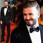 デビッド・ベッカム、英国アカデミー賞(BAFTA)に出席 #ファッション #タキシード #スーツ