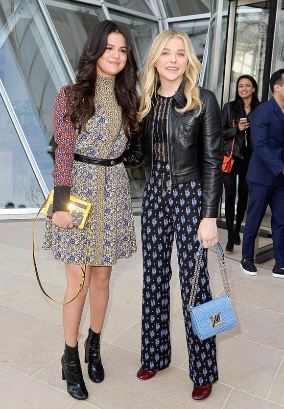Chloe-Moretz-Selena-Gomez-Louis-Vuitton-PFW-2015
