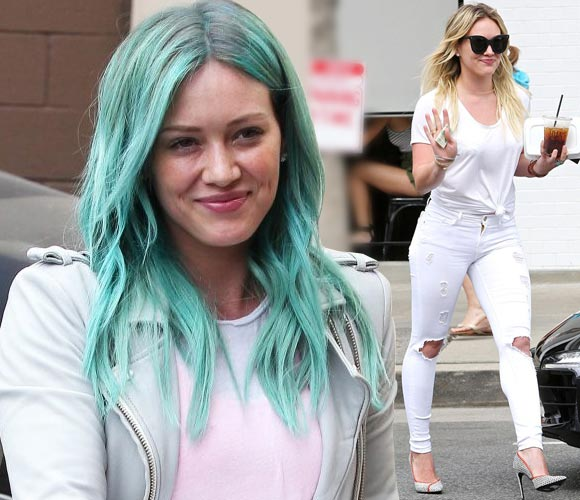 Hilary-Duff-green-hair-march-2015