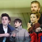 デビッド・ベッカム、3人の息子たちとサッカー観戦 #子供 #最新