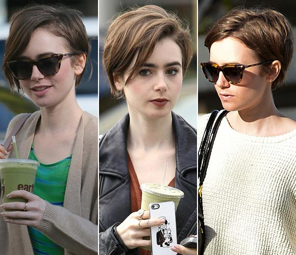 lily-collins-Short-hair -2015