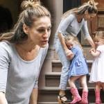 サラ・ジェシカ・パーカー、双子の娘ちゃんたちとお出かけ #私服#子供