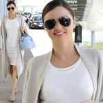 ミランダ・カー、白のワンピースが春らしく爽やか!LAX空港にて #私服 #春コーデ