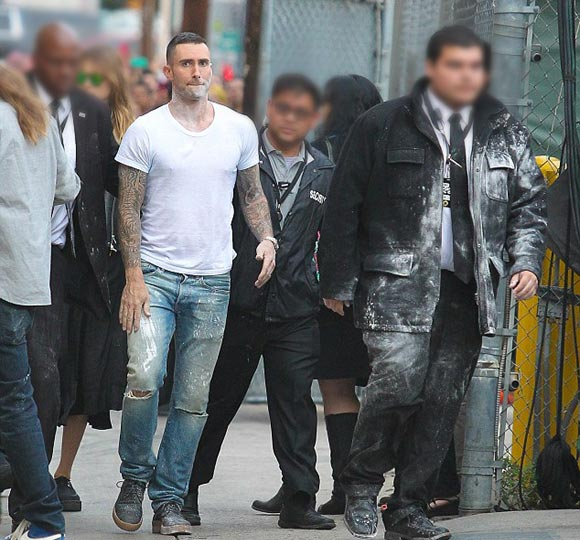 Adam-Levine-Flour-Bombed-Outside-tv-2015-05
