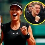 「テニスの全仏オープン」美女プレーヤーアナ・イバノビッチが8強入り!サッカードイツ代表の彼氏が見守る