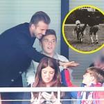 デビッド・ベッカム、息子たちとサッカー観戦 #娘ハーパーちゃんと自転車練習 #インスタグラム