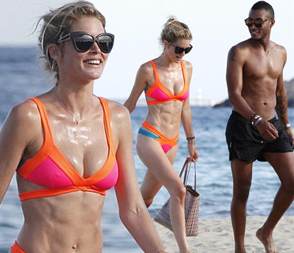 Doutzen-Kroes-Sunnery-James-july-2015