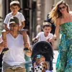 ジゼル・ブンチェン、夫と子供たちとお出かけ #私服 #セレブ家族