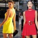 イリーナ・シェイク、イエロー&レット #ヴェルサーチ #パリファッションウィーク