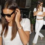 イリーナ・シェイク、オールホワイト着こなしコーデ #私服 #ファッション