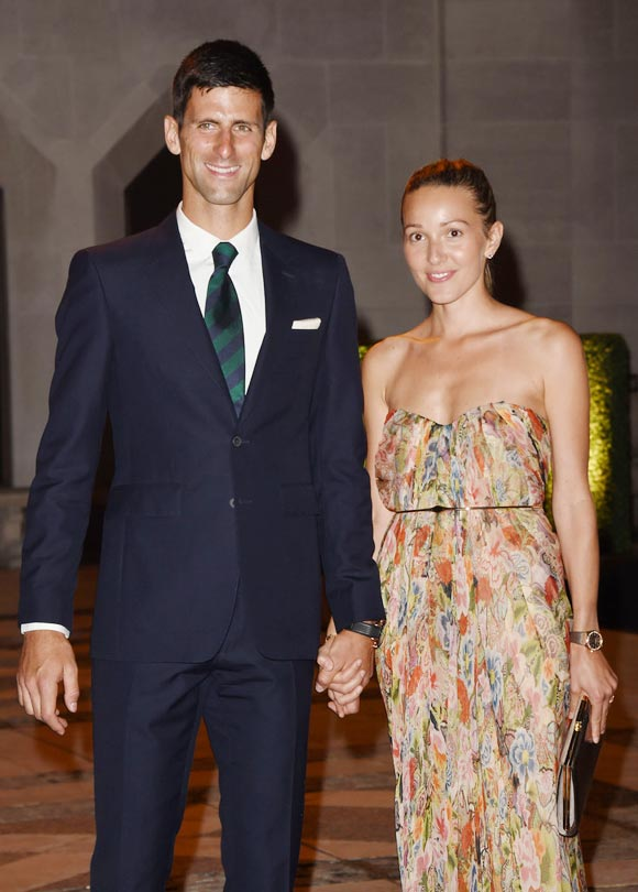 Novak-djokovic-wife-jelena-wimbledon-red-carpet-2015