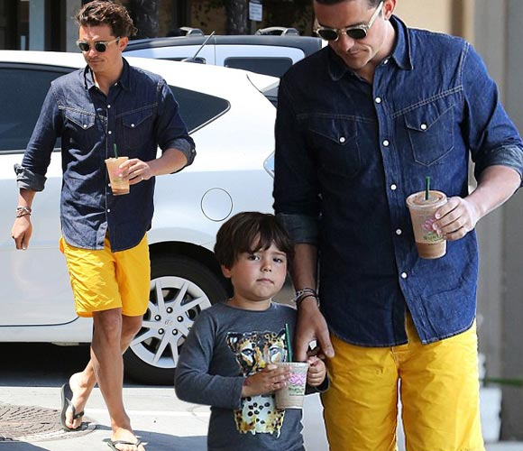 Orlando-Bloom-son-Flynn-july-2015