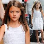 トム・クルーズ娘スリちゃん、もう9歳!パパ似の美少女に!#現在 #服 #ファッション