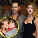 ジョニー・デップ、アツアツぶりをアピール?妻アンバー・ハードとレッドカーペットで熱いキス!
