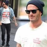 デビッド・ベッカム、ニット帽(ビーニー)が似合うカジュアルファッションスタイル #私服