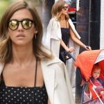 ジェシカ・アルバ、娘ヘイヴンをベビーカーに乗せてお出かけ #私服 #髪型