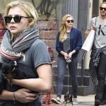 クロエ・モレッツ、兄トレバーと愛犬を連れて散歩 #私服