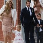 ジゼル・ブンチェン、夫の妹の結婚式に家族揃って出席 #結婚式コーデ