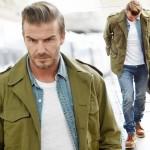 デビッド・ベッカム、抜群のファッションセンス「ミリタリージャケット×デニム」 #髪型 #ファッション